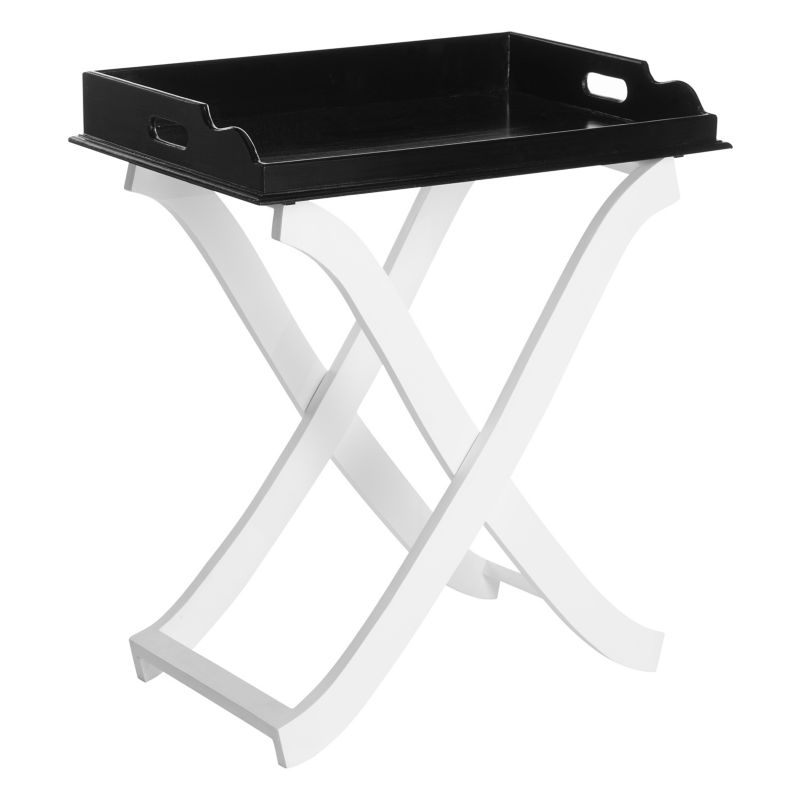 Safavieh Barkley Tray End Table, Black