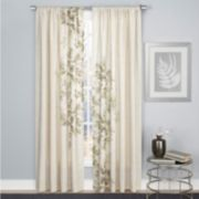 1888 Mills 1-Panel Hamilton Leaf Window Curtain