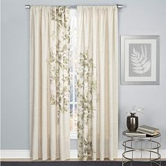 1888 Mills 1-Panel Hamilton Leaf Window Curtain