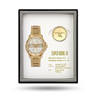 Pittsburgh Steelers Super Bowl IX Watch & Coin Commemorative Set