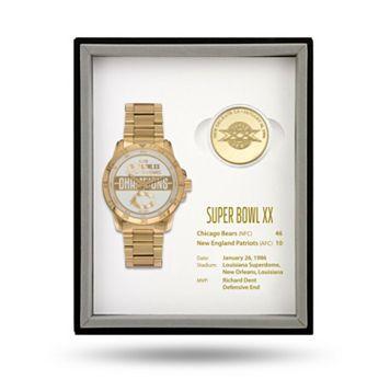 Chicago Bears Super Bowl XX Watch & Coin Commemorative Set