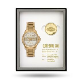 Denver Broncos Super Bowl XXXVII Watch & Coin Commemorative Set
