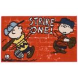 "Peanuts Friends ""Strike One"" Rug - 18"" x 30"""