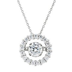 Floating DiamonLuxe 1 1/2 Carat T.W. Simulated Diamond Circle Pendant