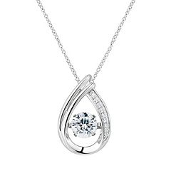 Floating DiamonLuxe 1 5/8 Carat T.W. Simulated Diamond Teardrop Pendant