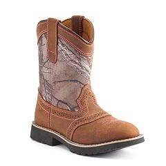 Itasca Real Tree Camo Girls' Leather Western Boots