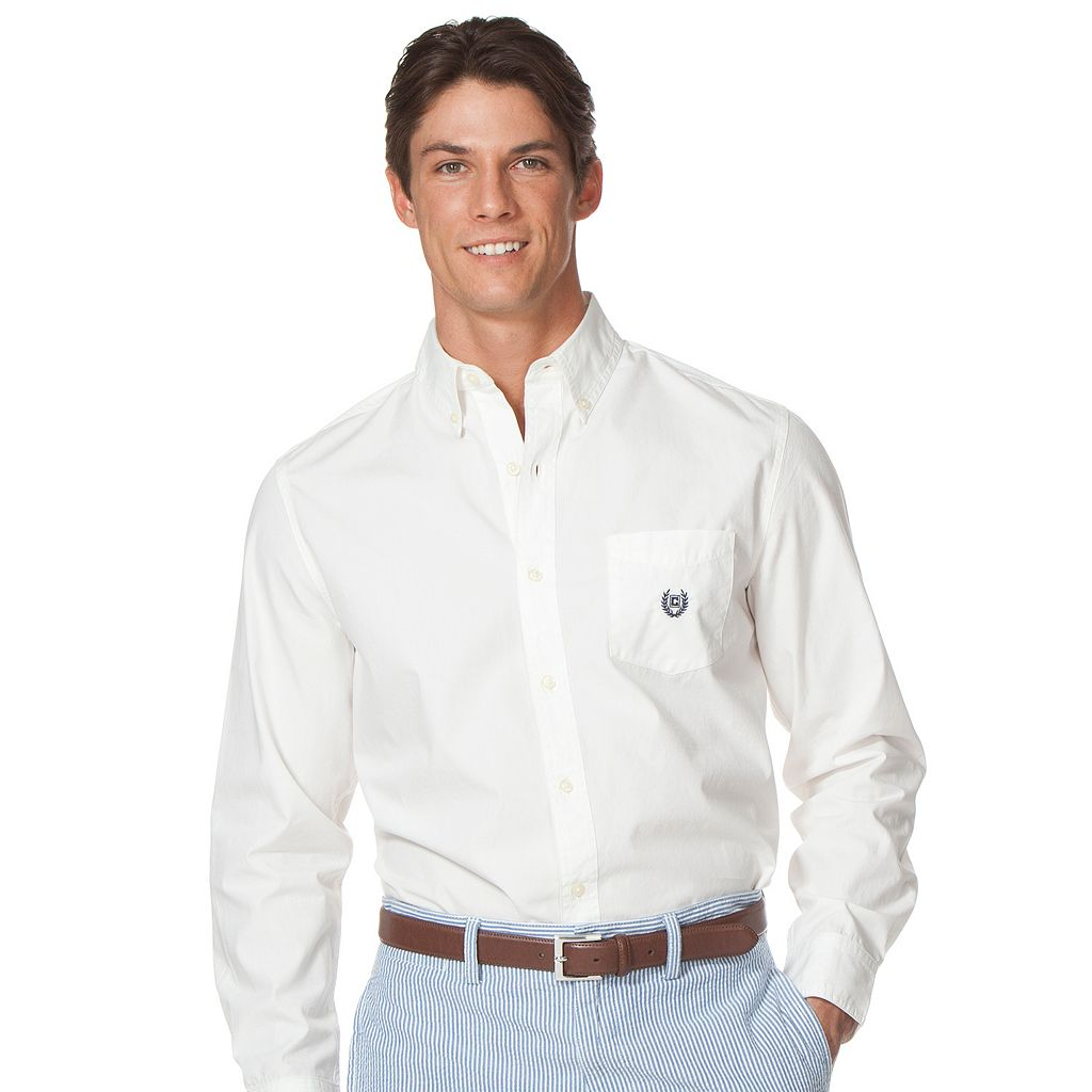 Men's Chaps Classic-Fit Solid Button-Down Shirt