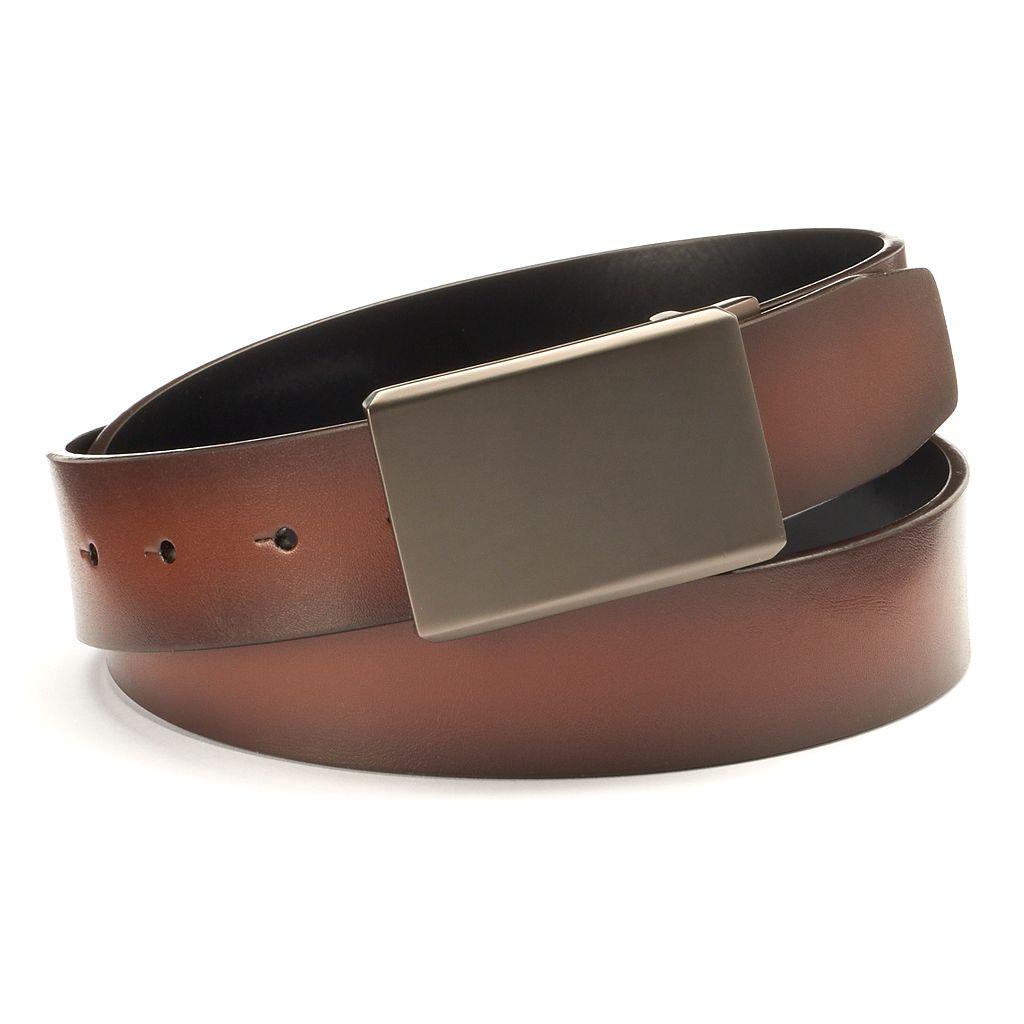 Men's Apt. 9® Matte Plaque Reversible Leather Belt