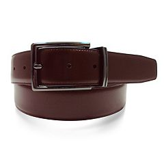 Men's Apt. 9® Reversible Feather-Edge Stitched Soft-Touch Leather Belt
