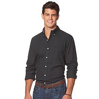 Men's Chaps Classic-Fit Checked Easy-Care Button-Down Shirt