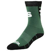 Men's Michigan State Spartans Energize Crew Socks