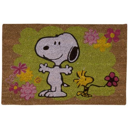 """Peanuts """"Floral"""" Welcome Doormat"""