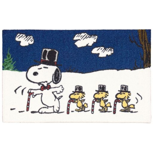 """Peanuts Holiday Candy Cane Accent Rug - 20"""" x 32"""""""