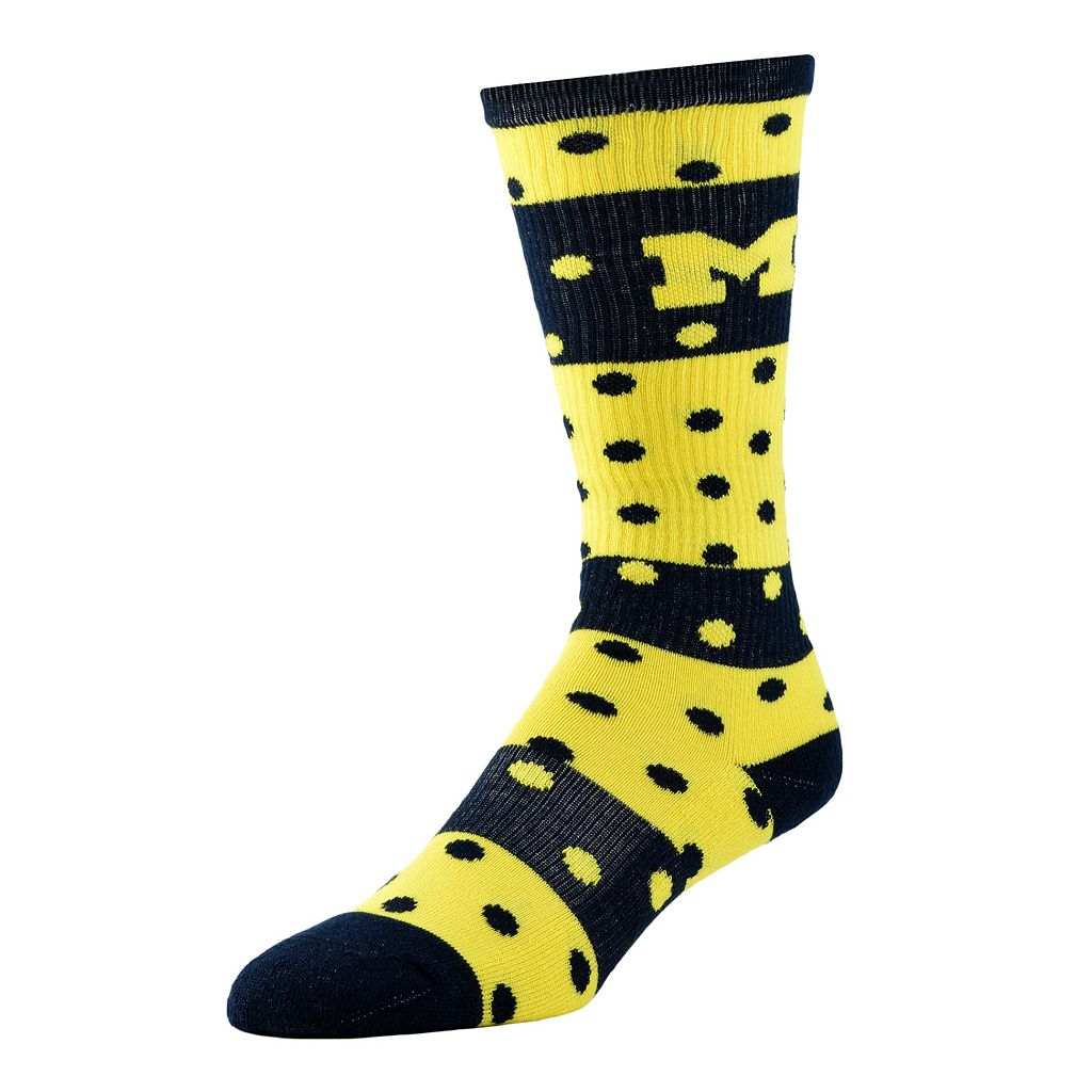 Women's Michigan Wolverines Dotted Line Knee-High Socks