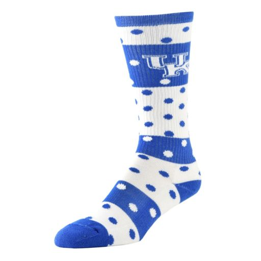 Women's Kentucky Wildcats Dotted Line Knee-High Socks