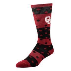 Women's Oklahoma Sooners Dotted Line Knee-High Socks