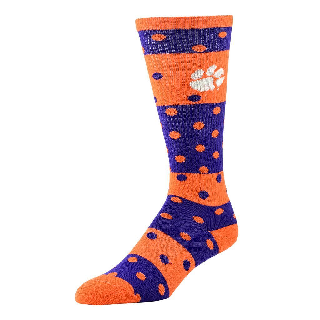 Women's Clemson Tigers Dotted Line Knee-High Socks