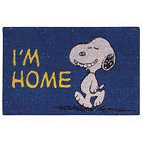 Peanuts ''I'm Home'' Coir Welcome Doormat - 18'' x 28''