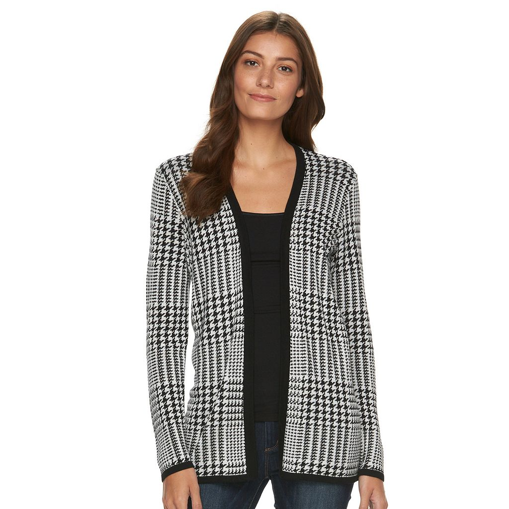 Women's Croft & Barrow® Essential Print Cardigan