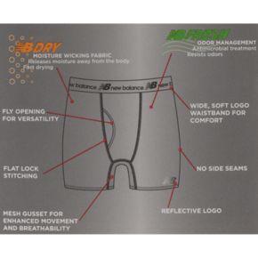 Men's New Balance 2-pack Dry Fresh Performance Boxer Briefs