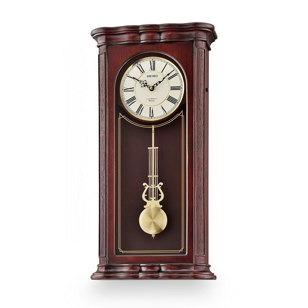 Wood musical pendulum wall clock qxm361blh seiko wood musical pendulum wall clock qxm361blh amipublicfo Image collections