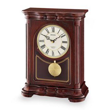 Seiko Wood Musical Pendulum Mantel Clock Qxw242blh