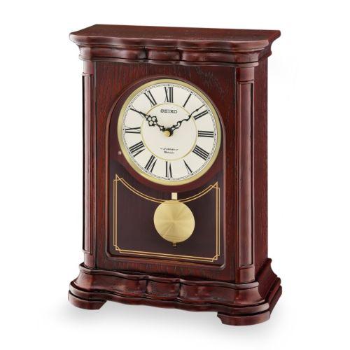Seiko Wood Musical Pendulum Mantel Clock - QXW242BLH