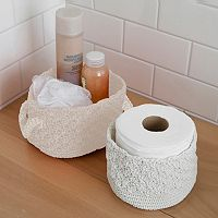 Splash Home 2-pack Crochet Basket Set