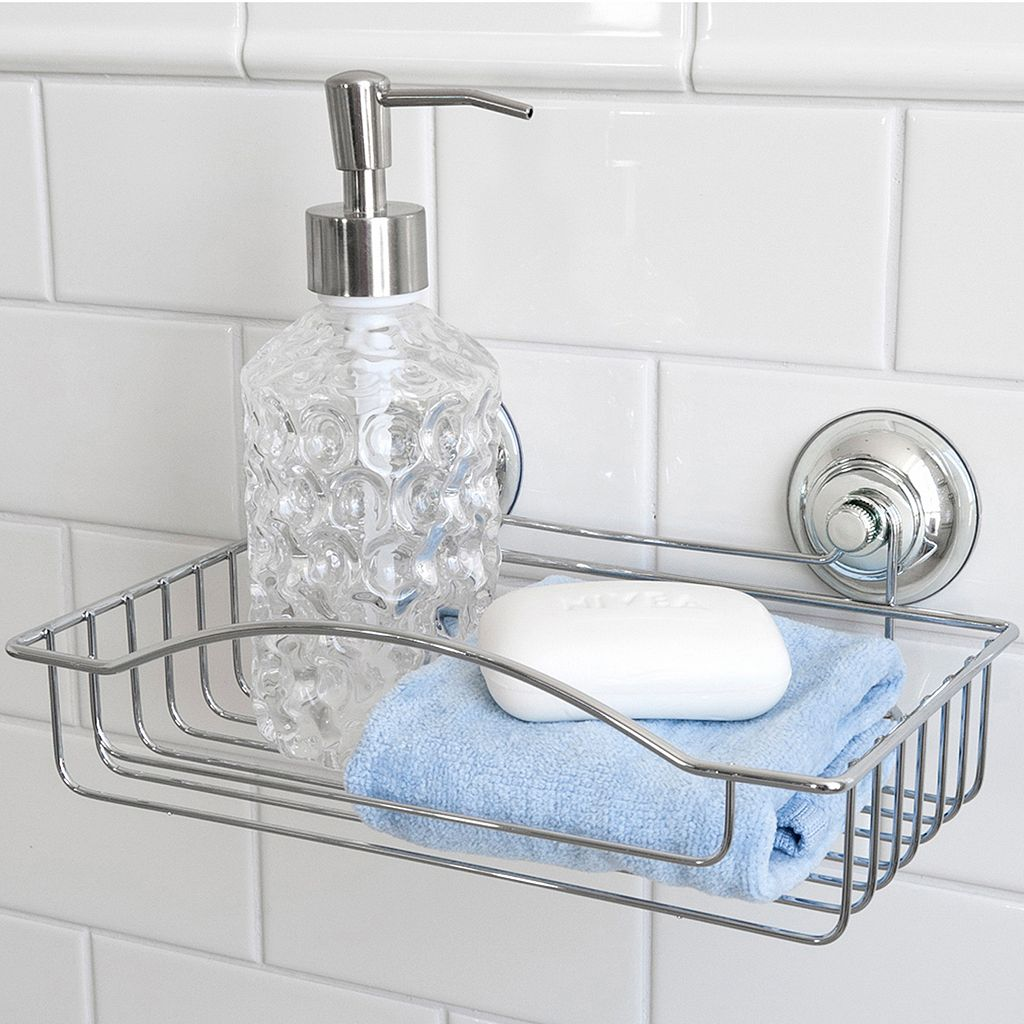 Splash Home Naples Rectangle Shower Basket