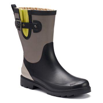Chooka Women's Colorblock Waterproof Rain Boots