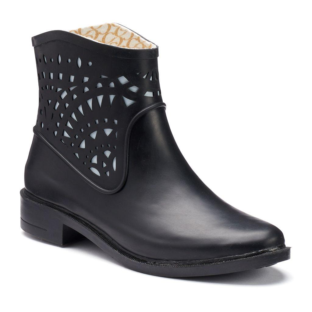 Chooka Women's Laser-Cut Waterproof Rain Boots