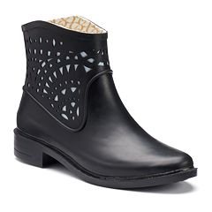 Chooka Women's Laser-Cut Waterproof Rain Boots