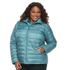 Plus Size Columbia Frosted Ice Printed Puffer Jacket
