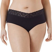 Juniors' Plus Size Saint Eve V-Lace Hipster