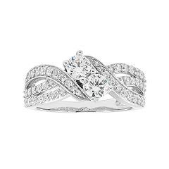 10k White Gold 1 Carat T.W. Diamond 2-Stone Ring