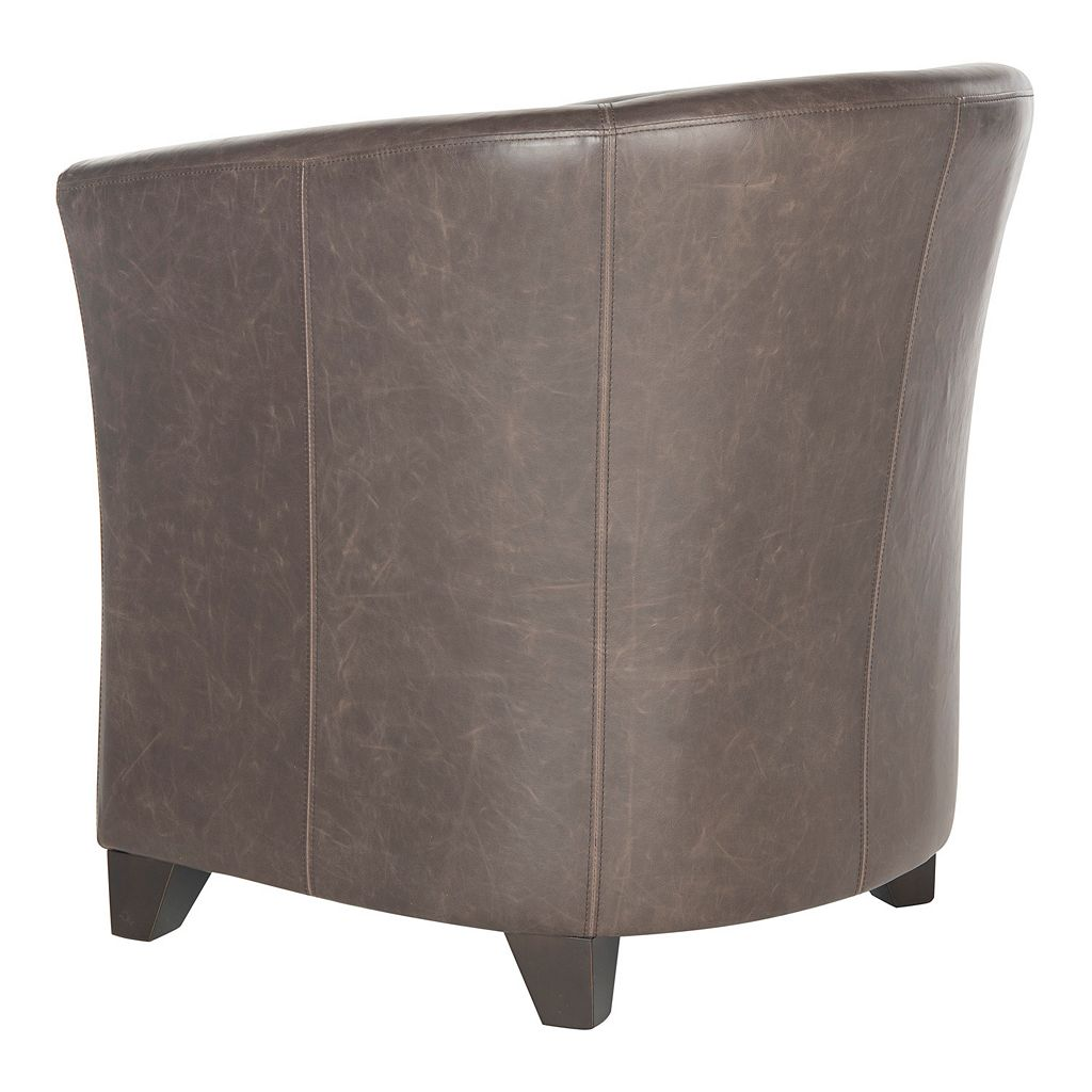 Safavieh Lorraine Leather Tub Arm Chair