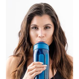 O2COOL Trimr Duo Square 38-oz. Water & Shaker Bottle