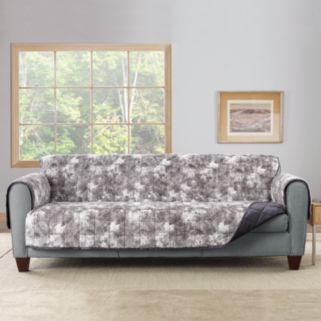 Sure Fit Faux Fur Reversible Loveseat Furniture Cover