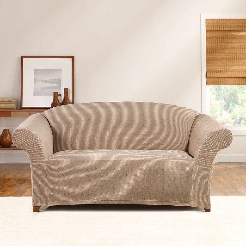 Sure Fit Stretch Ticking Stripe Sofa Slipcover