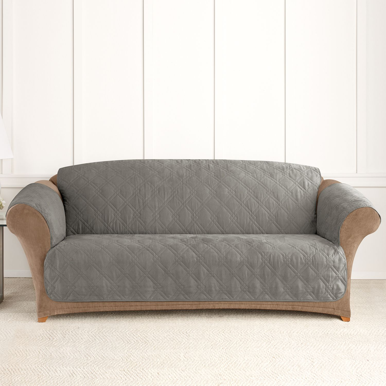 Sure Fit Microfiber Non Skid Pet Sofa Cover