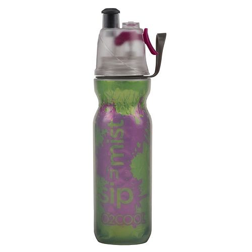 O2COOL® ArcticSqueeze® Mist 'N Sip® 20-oz. Insulated Green and Purple Splash Squeeze Water Bottle