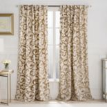 VCNY 1-Panel Brandy Flocked Scroll Window Curtain - 52'' x 84''