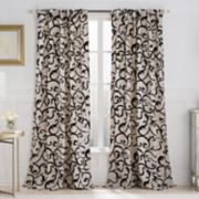 VCNY Brandy Flocked Scroll Window Curtain - 52'' x 84''