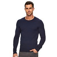 Men's Marc Anthony Slim-Fit Solid Marled Cashmere-Blend Merino Sweater
