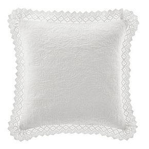 Laura Ashley Lifestyles Vivienne Crochet Throw Pillow