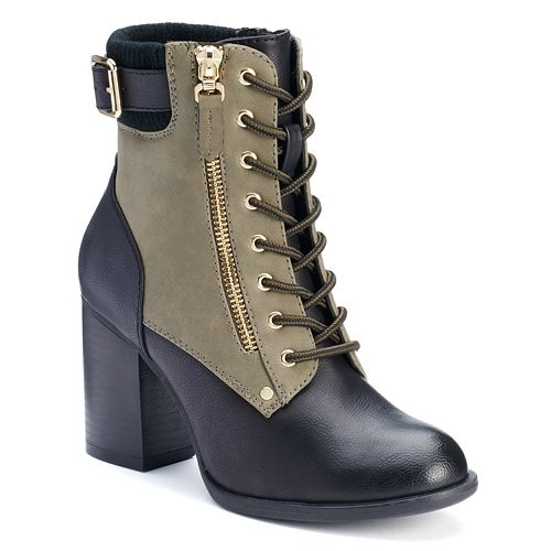Apt. 9® Women's Two-Tone High Heel Boots