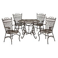 Safavieh Thessaly Patio Chair & Table 5 pc Set