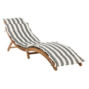 Safavieh Pacifica Patio Lounge Chair & End Table 3-piece Set