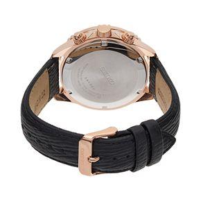 Seiko Men's Core Leather Solar Chronograph Watch - SSC448