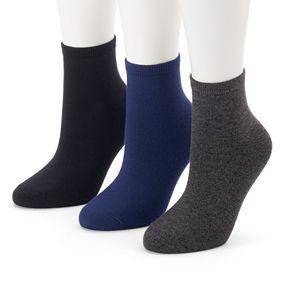 Women's SONOMA Goods for Life? 3-pk. Soft & Comfortable Ankle Socks